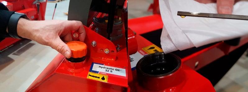 Hydrayliikkaöljyn ja suodattimen kunto kannattaa tarkistaa säännöllisesti.