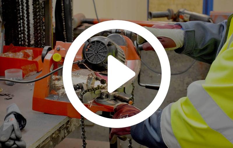 Chain sharpening video
